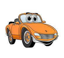 Convertible Orange Sports Car Photographic Print