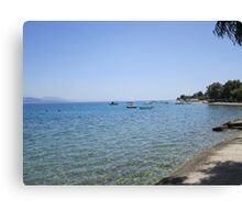 Greek coastline Canvas Print