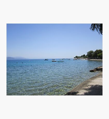 Greek coastline Photographic Print