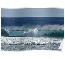 Wave Break at Quobba, Western Australia Poster