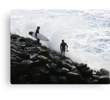Crazy Surfers Canvas Print