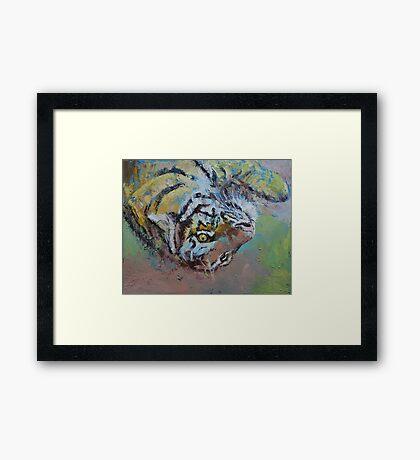 Tiger Play Framed Print