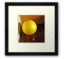 Big Ball & little ball Framed Print