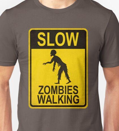 Slow Zombies Walking Unisex T-Shirt
