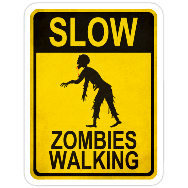 Slow Zombies Walking by bungeecow