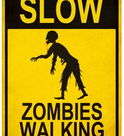 Slow Zombies Walking Sticker