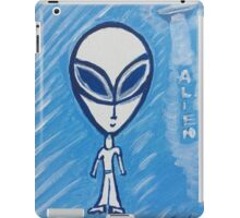 Cartoonist looking alien, abduct him before he does you iPad Case/Skin