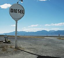 Diesel on Hwy 93. Lages Station, Nevada. by Christina Weber