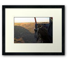 Early Morning Patrol Framed Print