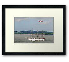 Tall Ship Christian Radich at Duncannon, County Wexford, Ireland Framed Print