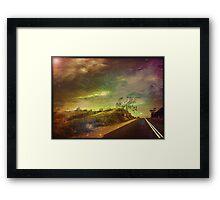 Magical Windy Hill Framed Print