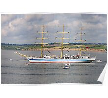 Russian Tall Ship Mir, off Duncannon, County Wexford, Ireland Poster