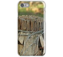 Fence Post with barb wire iPhone Case/Skin