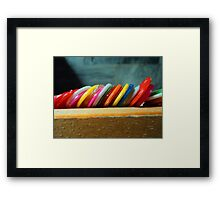 tokens to keep Framed Print