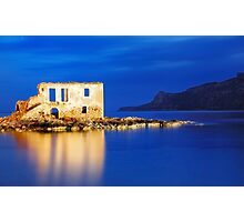 Plytra Abandoned house in Lakonia, Greece Photographic Print