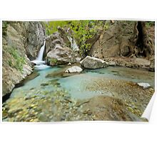 Waterfall in Greece, Taygetos mountain. Poster