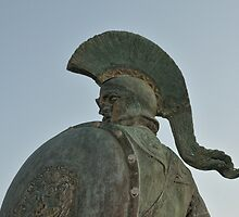 Statue of king Leonidas in Sparta, Greece  by nickthegreek82