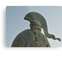 Statue of king Leonidas in Sparta, Greece  Metal Print