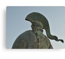 Statue of king Leonidas in Sparta, Greece  Canvas Print