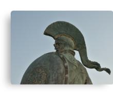 Statue of king Leonidas in Sparta, Greece  Canvas Print