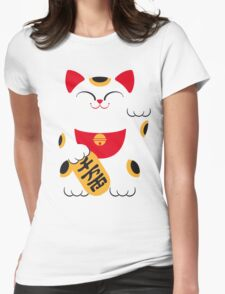 Japan 2 - Maneki Neko Womens Fitted T-Shirt