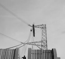 """Stringing an Overhead Line Tower"" by Jimmy Deas"