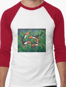 """Toucan Tea"" Men's Baseball ¾ T-Shirt"