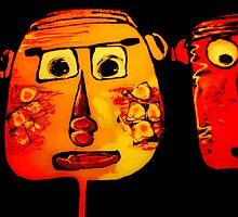 comic face by Ingrid Merrett