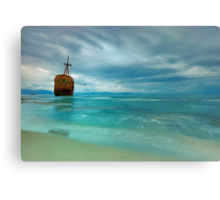 Famous Gytheio Shipwreck in Greece Canvas Print