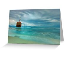 Famous Gytheio Shipwreck in Greece Greeting Card