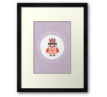 Hipster Owlet Purple v2 Framed Print