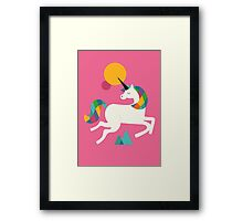 To be a unicorn Framed Print