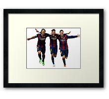 Messi Suarez Neymar Framed Print