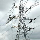 """Tension Tower with Platform and Conductor Running Out Blocks"" by Jimmy Deas"