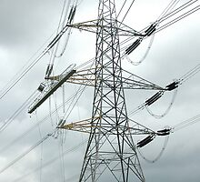 """""""Tension Tower with Platform and Conductor Running Out Blocks"""" by Jimmy Deas"""