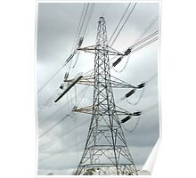 """""""Tension Tower with Platform and Conductor Running Out Blocks"""" Poster"""