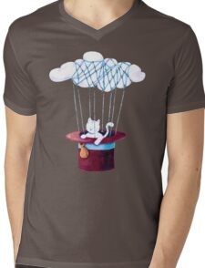 The Cat Traveling in Dreams Mens V-Neck T-Shirt