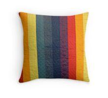 Stripey Quilt Throw Pillow