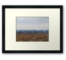 Where the Prairies start Framed Print