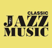 Black Classic Jazz Music  Kids Tee