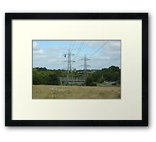 """""""Tension Tower, South Wales"""" Framed Print"""