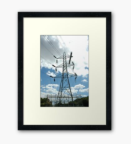 """""""Tension Tower with Platform and Scaffold"""" Framed Print"""
