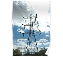"""""""Tension Tower with Platform and Scaffold"""" Poster"""