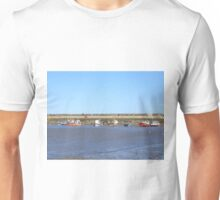 Staithes with boats in the harbour Unisex T-Shirt