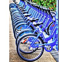 Bikes For Hire Photographic Print