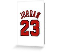 Jordan 23 Greeting Card
