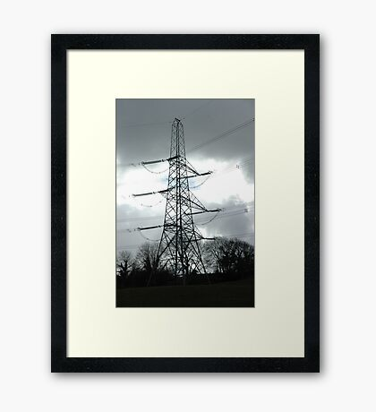 """""""Tension Tower and Storm Imminent"""" Framed Print"""