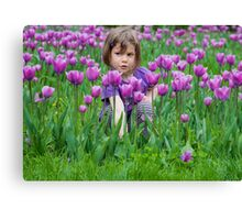 Contemplating her next move .... Canvas Print