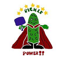 Funny Pickle Super Hero Pickleball Player Photographic Print