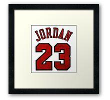 Jordan 23 Worn Framed Print